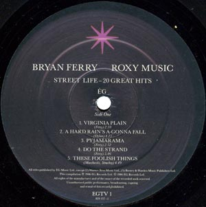 ROXY MUSIC / BRYAN FERRY - Street Life - 20 Great Hits - LP