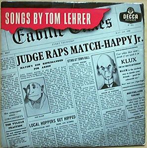 Lehrer, Tom - Songs By Tom Lehrer